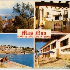 Postales: M04832 PLATJA D' ARO RESTAURANTE MAS NOU 1972 FOTO SANS. Lote 270574163