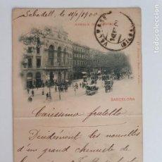Postales: BARCELONA - RAMBLA DEL CENTRO - HAUSER Y MENET 17 TEXTO EN ROJO - REVERSO SIN DIVIDIR - P53410. Lote 270634538