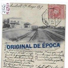 Postales: (PS-65927)POSTAL DE LERIDA-ESTACION DEL FERROCARRIL.FOTO V.MUÑOZ. Lote 271065058
