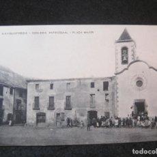 Postales: AIGUAFREDA-ESGLESIA PARROQUIAL I PLAÇA MAJOR-J.OBRADORS-9-POSTAL ANTIGUA-(81.955). Lote 271399598