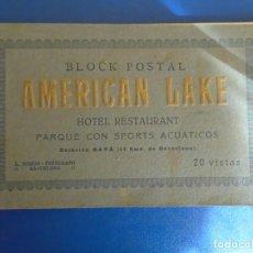 Postales: (PS-65951)BLOCK CON 18 POSTALES DE AMERICAN LAKE HOTEL RESTAURANT PARQUE CON SPORTS ACUATICOS(GAVA). Lote 271818903