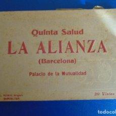 Postales: (PS-65954)BLOCK DE 20 POSTALES QUINTA SALUD LA ALIANZA(BARCELONA)PALACIO DE LA MUTUALIDAD-L.ROISIN. Lote 271820408