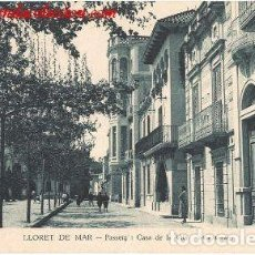Postales: LLORET DE MAR.- PASSEIG I CASA DE LA VIDA. Lote 274199298
