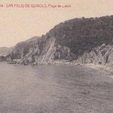 Cartoline: GIRONA SAN FELIU GUIXOLS PLAYA DE CAÑET. ED. A.T.V. ANGEL TOLDRA VIAZO Nº 3024. SIN CIRCULAR. Lote 275136833