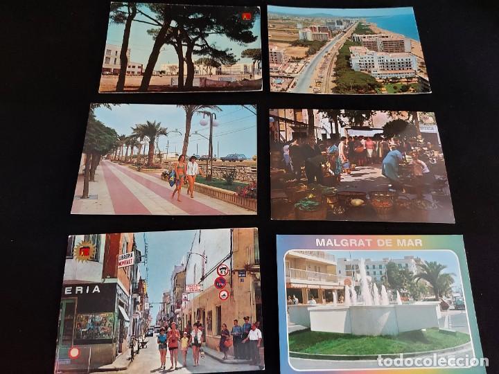 Postales: MALGRAT DE MAR / CONJUNTO DE 22 POSTALES DESDE LOS AÑOS 60 / BUENA CALIDAD / VER FOTOS. - Foto 2 - 275237523