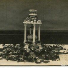 Postales: RIBAS-COMIDA HOMENAJE AL LIBRO-FUENTE CON LANGOSTINOS -AÑO 1916-FOTOGRÁFICA- MUY RARA. Lote 275479658