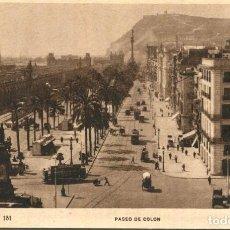 Postales: BARCELONA-PASEO DE COLÓN TRANVÍAS-- ED.ORIOL. Lote 276278593