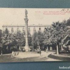 Postales: POSTAL BARCELONA ATV 2893 - PLAZA DE MEDINACELL. MONUMETO A GALCERAN MARQUET.. Lote 276578333
