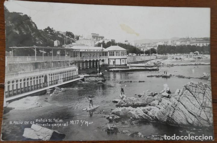 COLECCIONES MUR. SAN FELIU DE GUIXOLS. BAÑOS ST TELM.- CIRCULADA 1929 (Postales - España - Cataluña Antigua (hasta 1939))