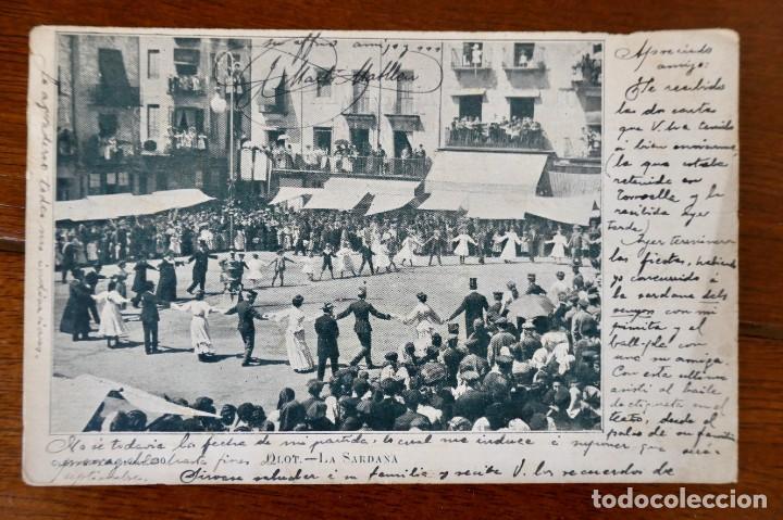 OLOT- LA SARDANA- CIRCULADA 1905 (Postales - España - Cataluña Antigua (hasta 1939))