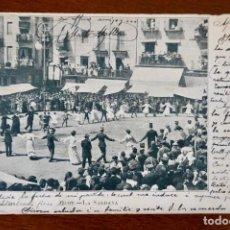Postales: OLOT- LA SARDANA- CIRCULADA 1905. Lote 276917853