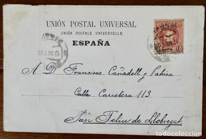 Postales: OLOT- LA SARDANA- CIRCULADA 1905 - Foto 2 - 276917853