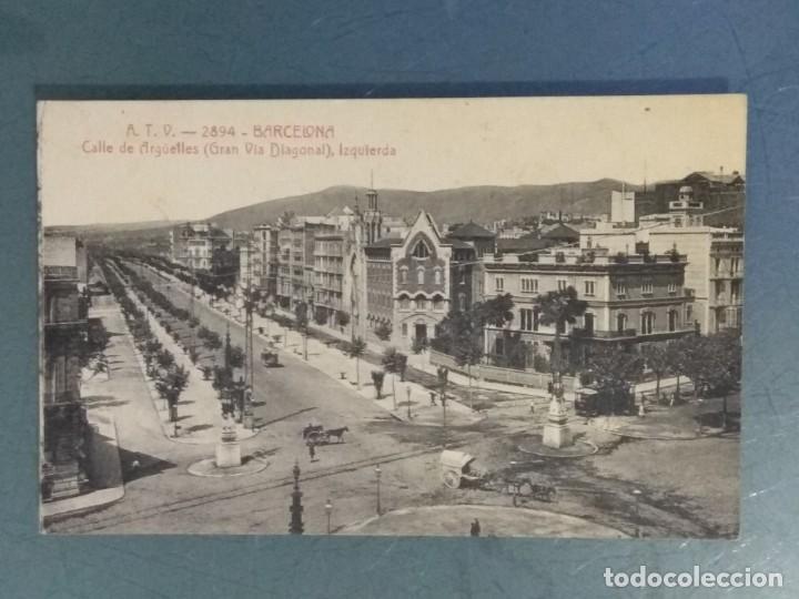 POSTAL ATV 2894 - BARCELONA - CALLE DE ARGÜELLES (GRAN VIA DIAGONAL), IZQUIERDA. (Postales - España - Cataluña Antigua (hasta 1939))