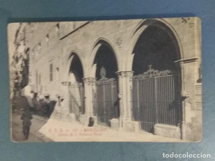 POSTAL ATV 137 - BARCELONA - IGLESIA DE S. ANTONIO ABAD. (AMBIENTADA). (Postales - España - Cataluña Antigua (hasta 1939))