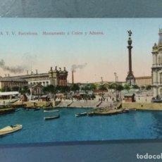 Cartoline: POSTAL ATV 22 - BARCELONA - MONUMENTO A COLON Y ADUANA. COLOREADA.. Lote 276965998