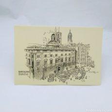 Postales: POSTAL DÍPTICO DE BARCELONA, SUBI, DIBUJO DE DBLADÉ AÑO 1983, PALAU DE LA GENERALITAT. Lote 276967253