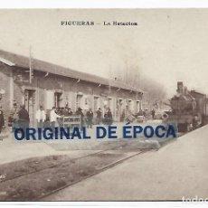 Cartoline: (PS-66122)POSTAL DE FIGUERAS-LA ESTACION. Lote 276978433