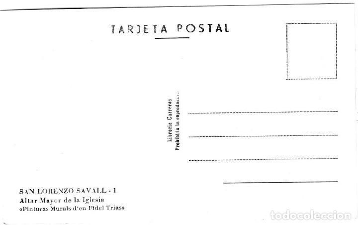 Postales: San Lorenzo Savall - Altar Mayor de la Iglesia - Ed. Lib. Carreras nº 1 - 139x89 mm. - Inédita en To - Foto 2 - 277180848