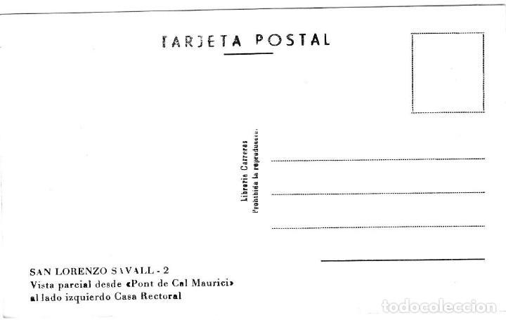 Postales: San Lorenzo Savall - Vista parcial desde Pont de Cal Maurici - Ed. Lib. Carreras nº 1 - Inédita en - Foto 2 - 277181443