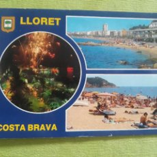 Postales: COSTA BRAVA - LLORET DE MAR - AÑO 1992. Lote 277230168