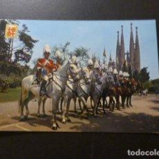 Postales: BARCELONA SECCION MONTADA DE LA POLICIA MUNICIPAL Y SAGRADA FAMILIA. Lote 277301643