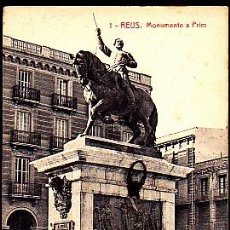 Postales: POSTAL REUS MONUMENTO A PRIM. Lote 277683738