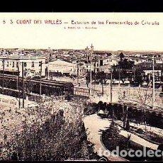 Postales: POSTAL SANT CUGAT DEL VALLES ESTACION DE LOS FERROCARRILES. Lote 277684218