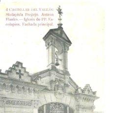 Postales: P1.- CASTELLAR DEL VALLES -FACHADA PRINCIPAL ESCOLAPIOS. Lote 277687268