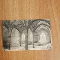Postales: POSTAL MONASTERIO DE POBLET INTERIOR DE LA SALA CAPITULAR SIN CIRCULAR. Lote 278444313