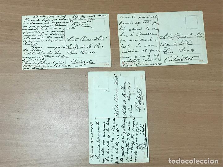 Postales: LOTE 3 TARJETA POSTAL ANTIGUAS SIN IDENTIFICAR - Foto 2 - 278454303