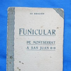 Postales: III EDICION. 10 VISTAS FUNICULAR DE MONTSERRAT A SAN JUAN. FOTO, ZERKOWITZ.. Lote 278461068