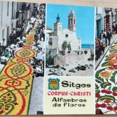 Postales: POSTAL SITGES CORPUS CHRISTI. ALFOMBRAS DE FLORES.. Lote 278480983