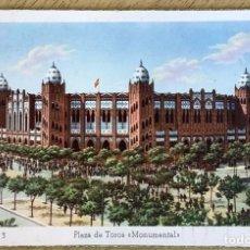 Postales: BARCELONA, 3 PLAZA DE TOROS MONUMENTAL. DUMATZEN, ZERKOVITZ. COLOREADA SIN CIRCULAR.. Lote 278839843