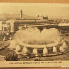 Postales: POSTAL DE EXPOSICIÓN INTERNACIONAL DE BARCELONA 1929. Nº 120. FUENTE MONUMENTAL. Lote 278879433