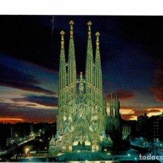 Postales: POSTAL BARCELONA. 2187 TEMPLO EXPIATORIO DE LA SAGRADA FAMILIA / ZERKOWITZ / CIRCULADA CO SELLO. Lote 280106253