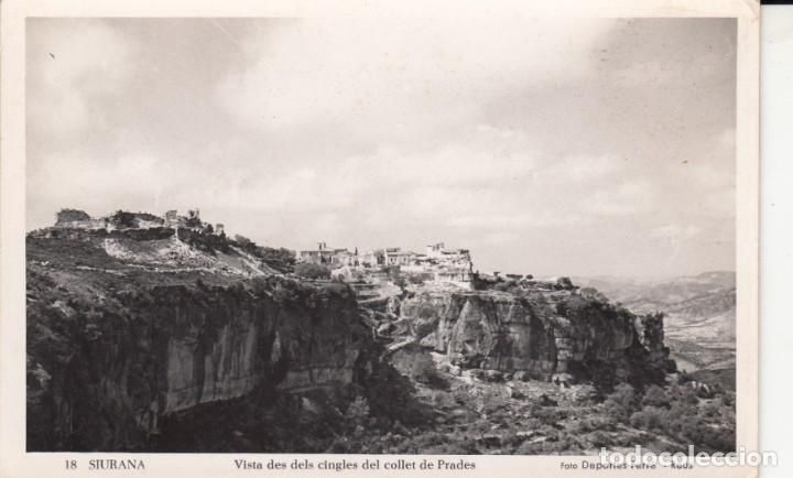 POSTAL DE SIURANA (TARRAGONA) VISTA DES DELS CINGLES DEL COLLET DE PRADES- FOTDEP.FERRE -REUS - 18 (Postales - España - Cataluña Moderna (desde 1940))