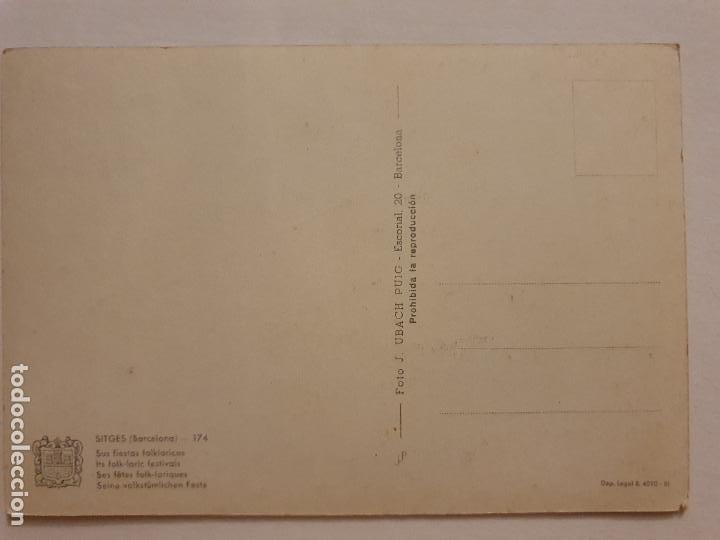 Postales: SITGES - FESTES / FIESTAS - GEGANTS CAPGROSSOS I DIABLES - P63304 - Foto 2 - 287704978