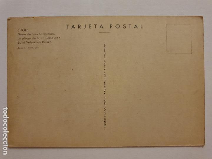 Postales: SITGES - PLATJA DE SANT SEBASTIÀ / PLAYA DE SAN SEBASTIÁN - P63305 - Foto 2 - 287705078