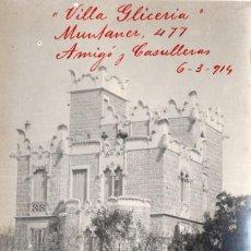 Postales: BARCELONA. VILLA GLICERIA. EDIFICIO MODERNISTA 1914. Lote 287883823