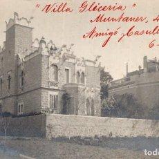 Postales: BARCELONA. VILLA GLICERIA. EDIFICIO MODERNISTA 1914. Lote 287883908