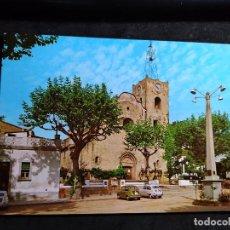 Cartes Postales: POSTAL * ARENYS DE MUNT , ESGLÉSIA PARROQUIAL * 1967 ( SEAT 600 ). Lote 287903333