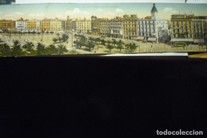 POSTAL PANORAMOCA DE UNOS 6O CMA BARCELONA PL.CATALUÑA CM (Postales - España - Cataluña Antigua (hasta 1939))