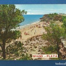Postales: POSTAL CIRCULADA MIAMI-PLAYA (MONTROIG) 28 TARRAGONA EDITA RAYMOND. Lote 288086453
