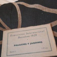 Postales: BLOC CON 12 POSTALES, PALACIOS Y JARDINES, BARCELONA 1929. Lote 288179843