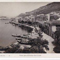 Postales: GIRONA, PORT DE LA SELVA VISTA DE LA RIBA Y LLOIA. ED. LLENSA Nº 12. ESCRITA EN 1932. Lote 288399373