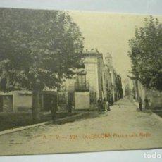 Postales: POSTAL ULLDECONA .-`LAZA Y CALLE MAYOR CM. Lote 288413113