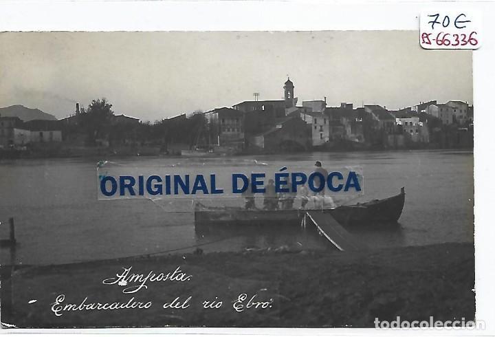 (PS-66336)POSTAL FOTOGRAFICA DE AMPOSTA-EMBARCADERO DEL RIO EBRO (Postales - España - Cataluña Antigua (hasta 1939))