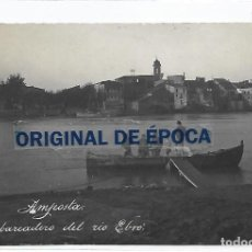 Postales: (PS-66336)POSTAL FOTOGRAFICA DE AMPOSTA-EMBARCADERO DEL RIO EBRO. Lote 288510683