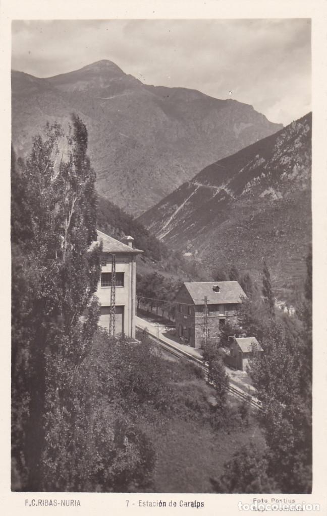 GIRONA, F.C. RIBAS - NURIA ESTACION DE CARALPS. ED. FOTO POSTIUS Nº 7. SIN CIRCULAR (Postales - España - Cataluña Antigua (hasta 1939))