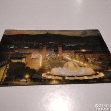 Postales: POSTAL BARCELONA FUENTE DE MONTJUIC. Lote 288566488